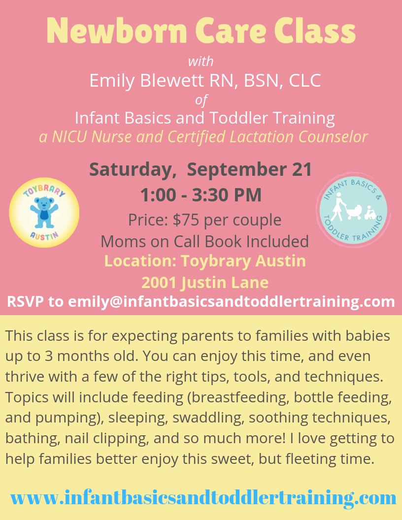Newborn Care Class September 21